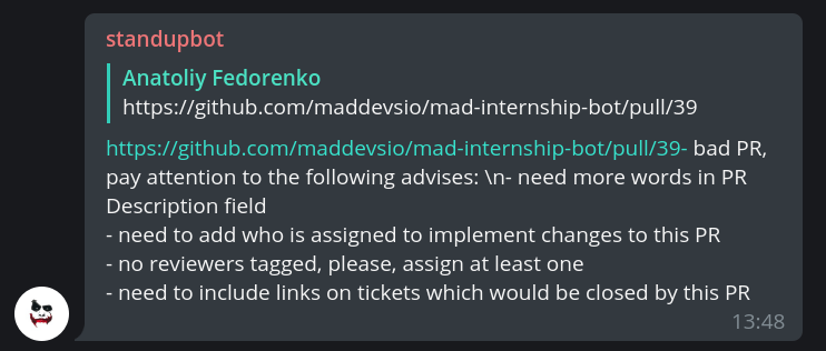Mad Devs Internship Program automation - Mad Devs