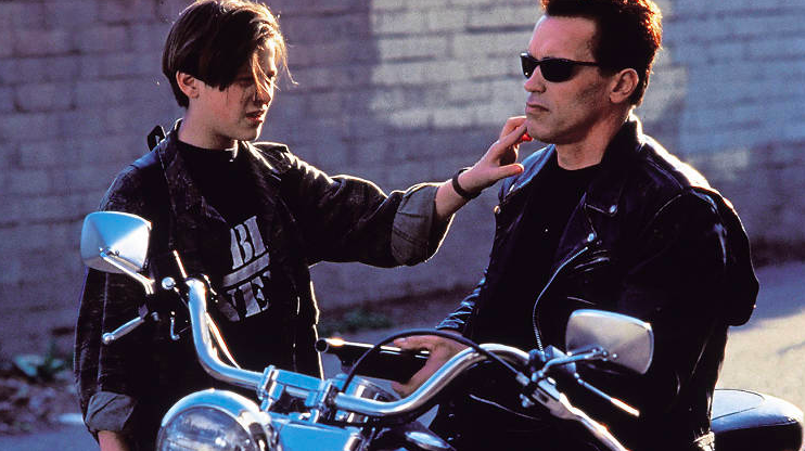 John Connor and the T-800: a representation of what can be an artificial entity.