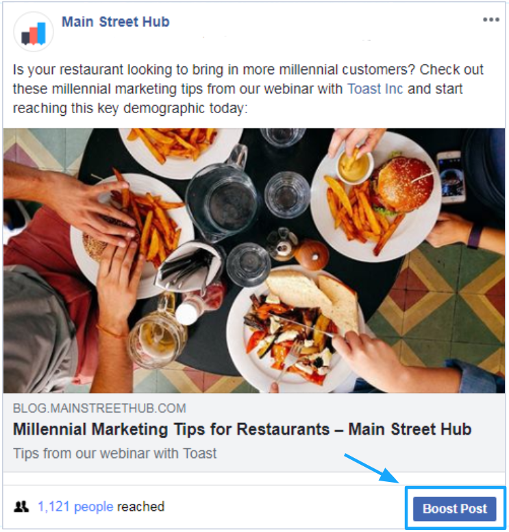 Should You Boost Content On Facebook Main Street Hub