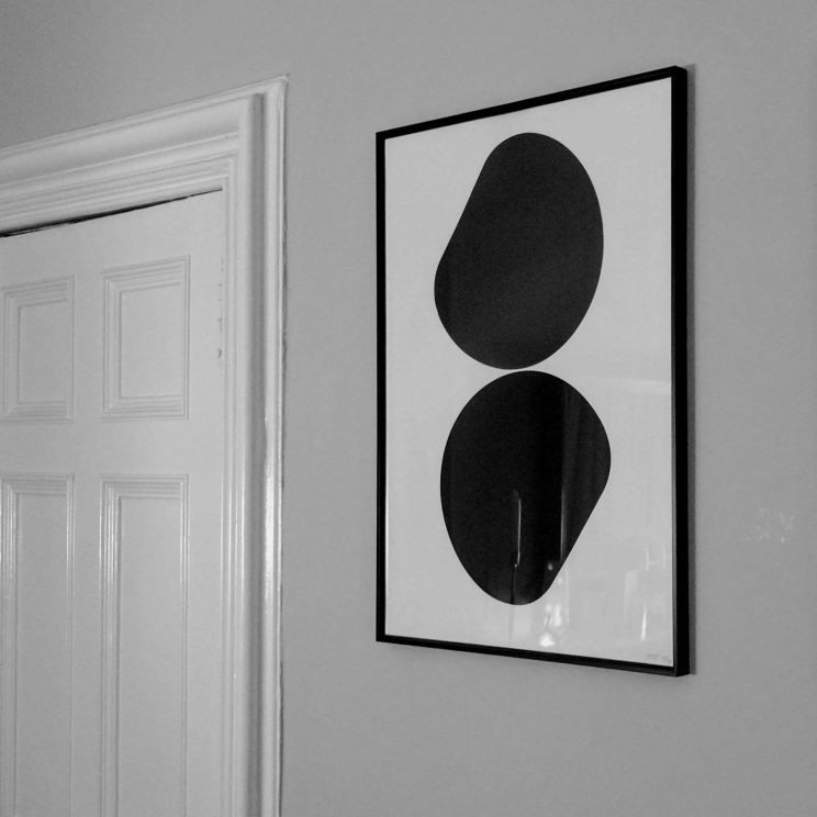 Autechre 2016 tour poster in our living room