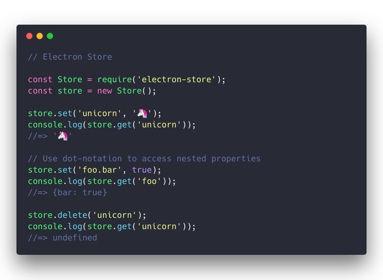 electron-store example