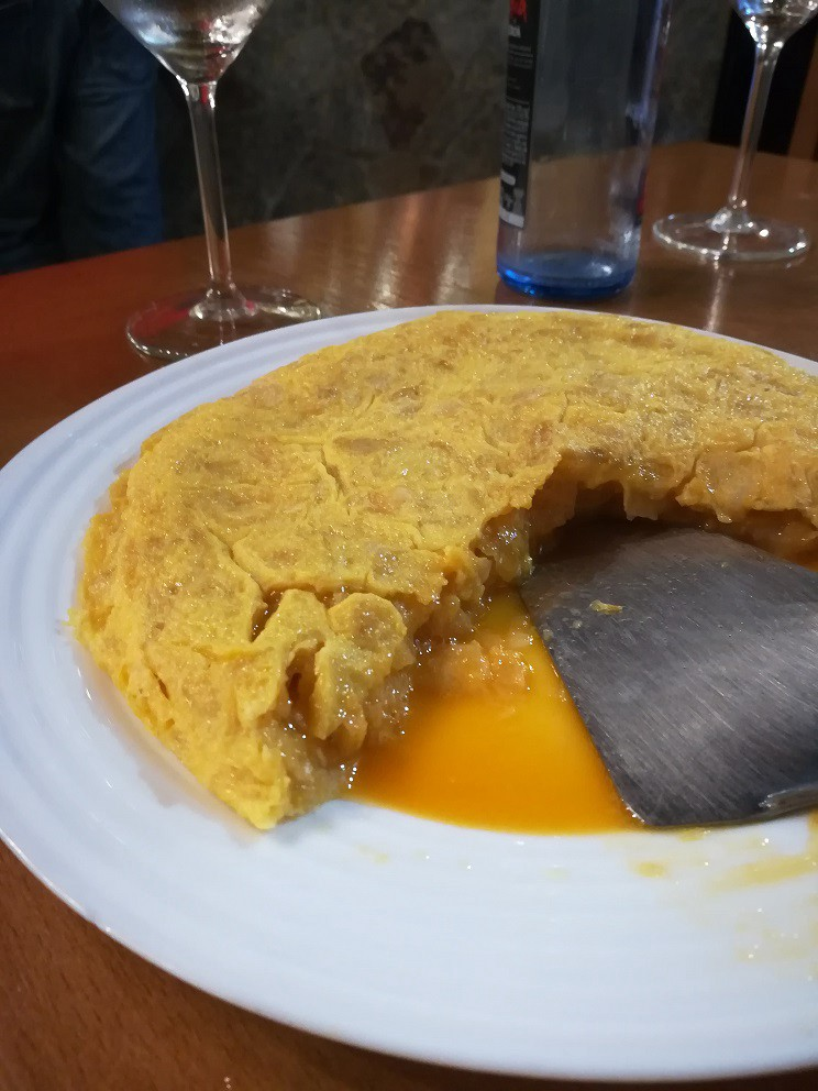 Spanish omelette tortilla Spain Betanzos travel