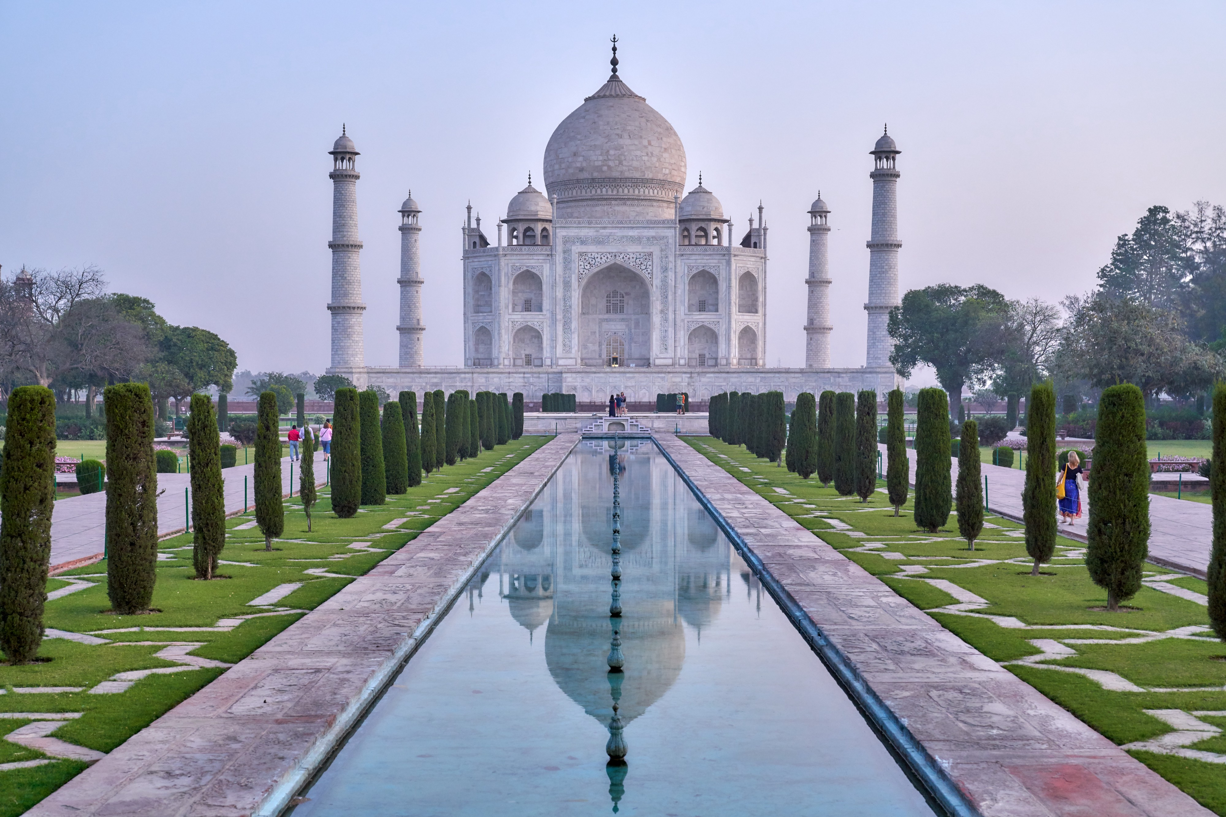 The front face of the Taj Mahal