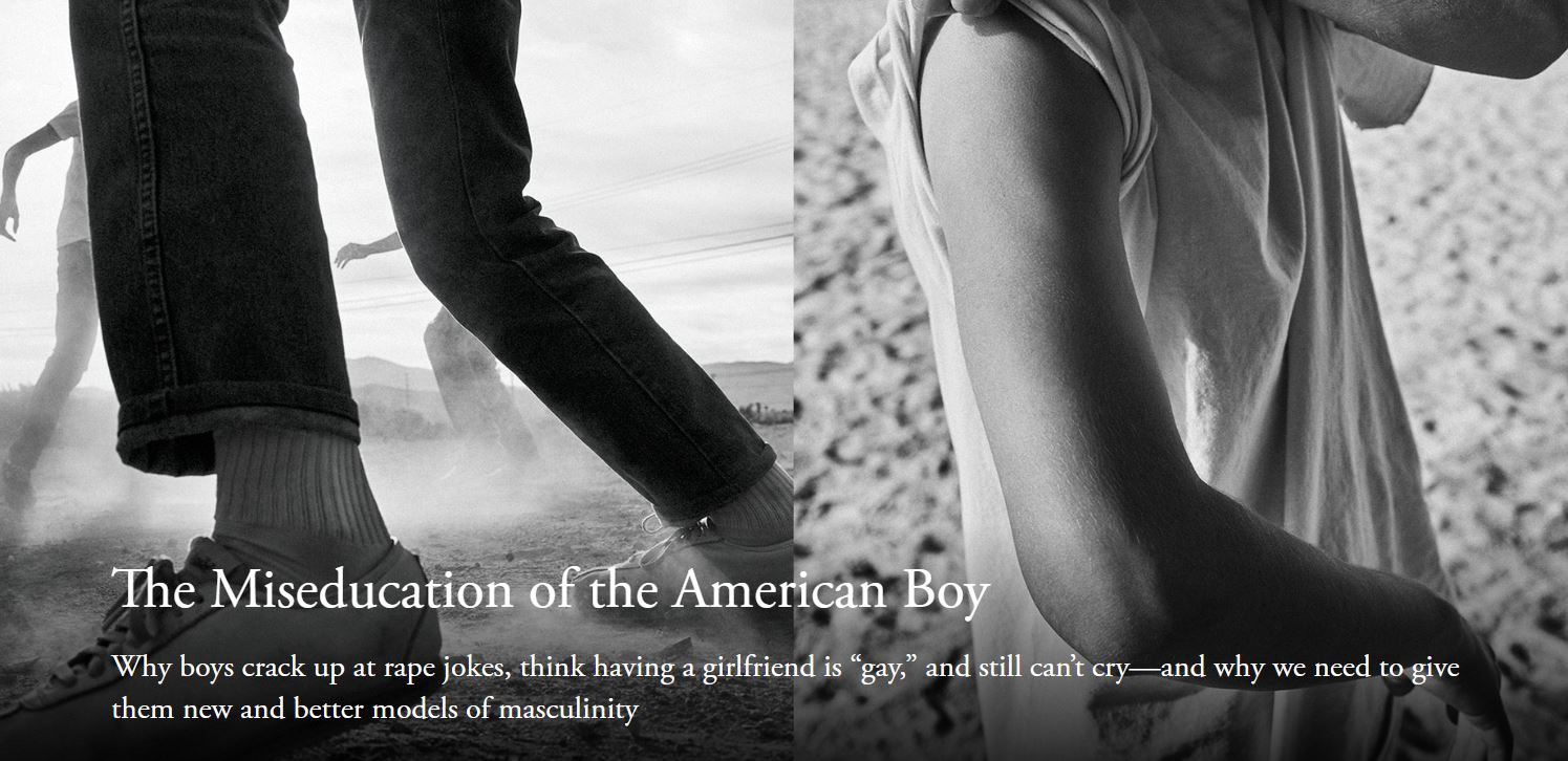 Image from The Atlantic magazine for the article, The Miseducation of the American Boy