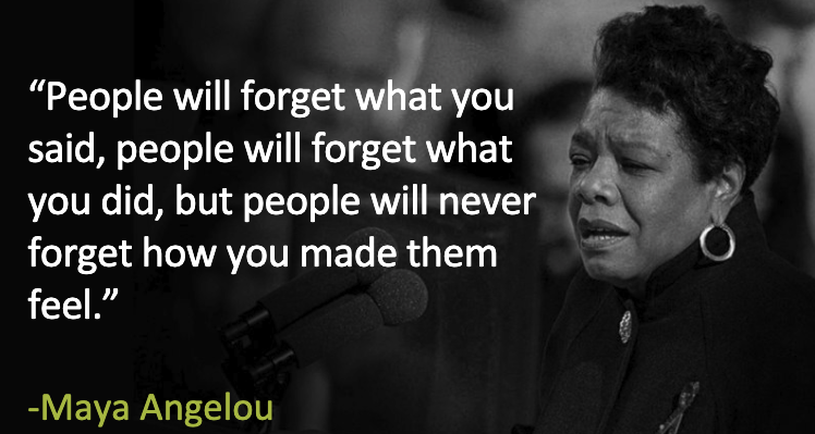 Maya Angelou Quote: People will forget what you said…