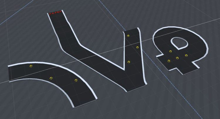 Example of old style track pieces