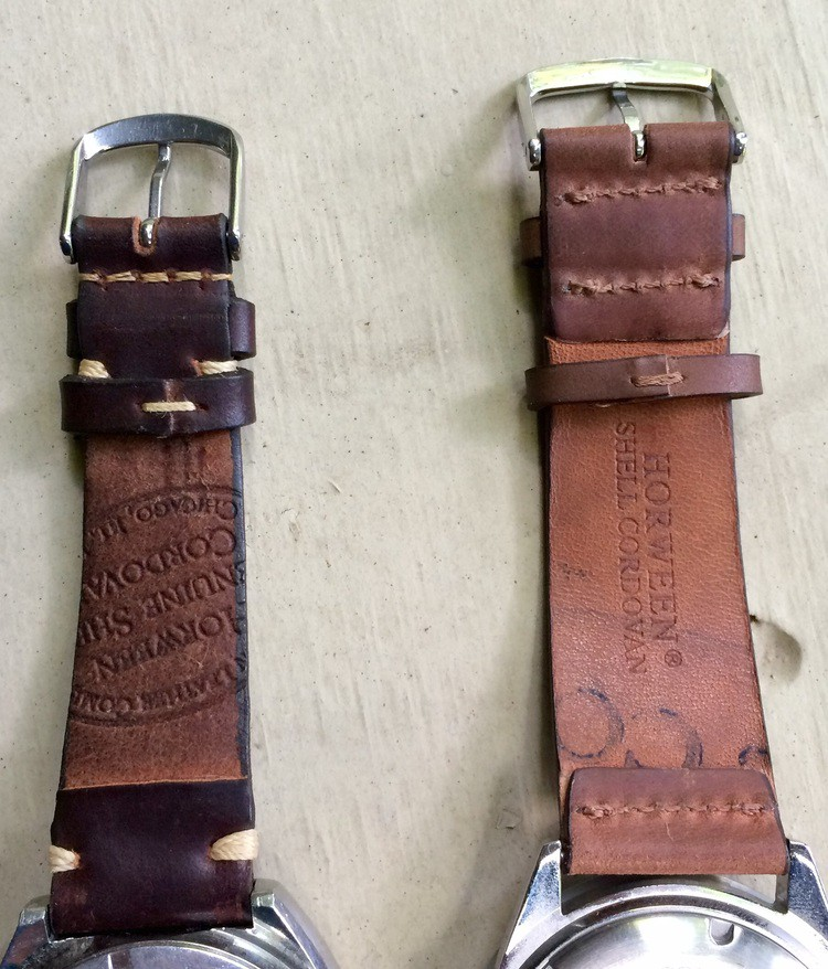Cordovan Shell montres bracelet 20 mm whisky-Marron Made in Germany