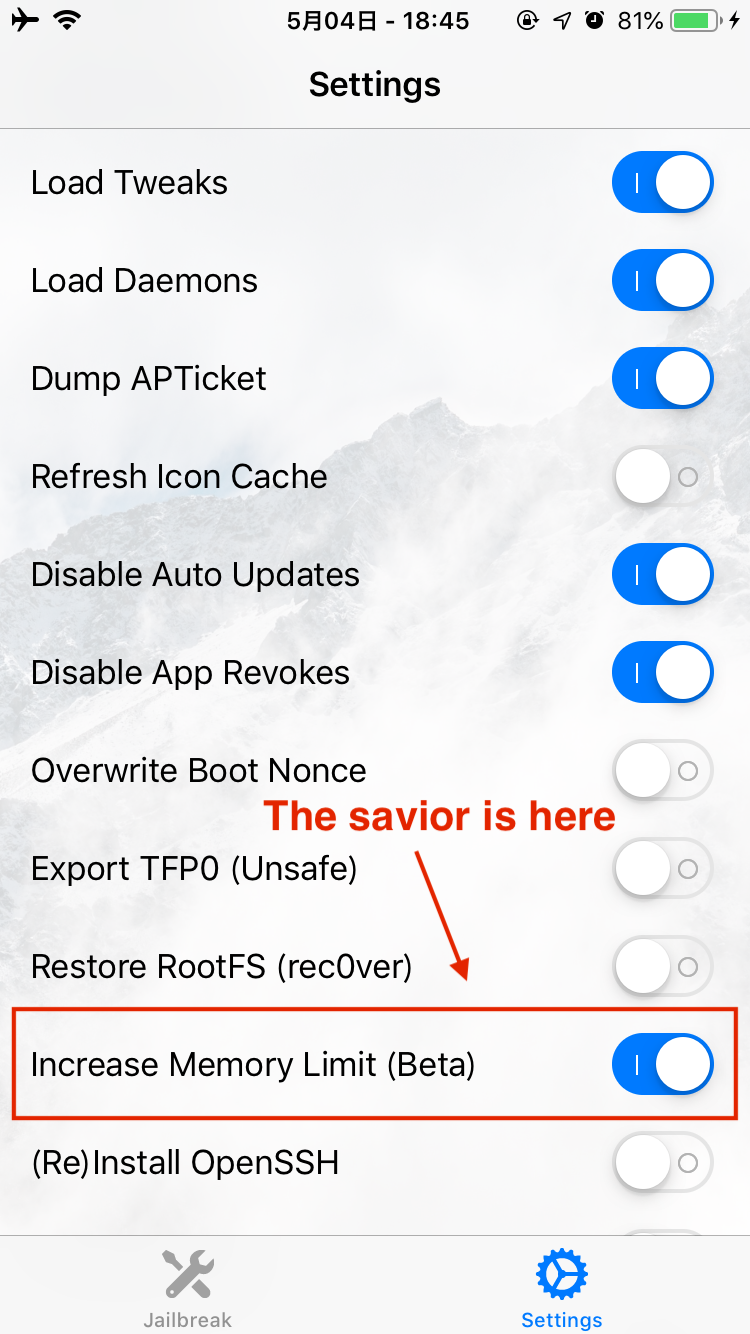 iOS 12 uncover jailbreak random resprings — Cause and