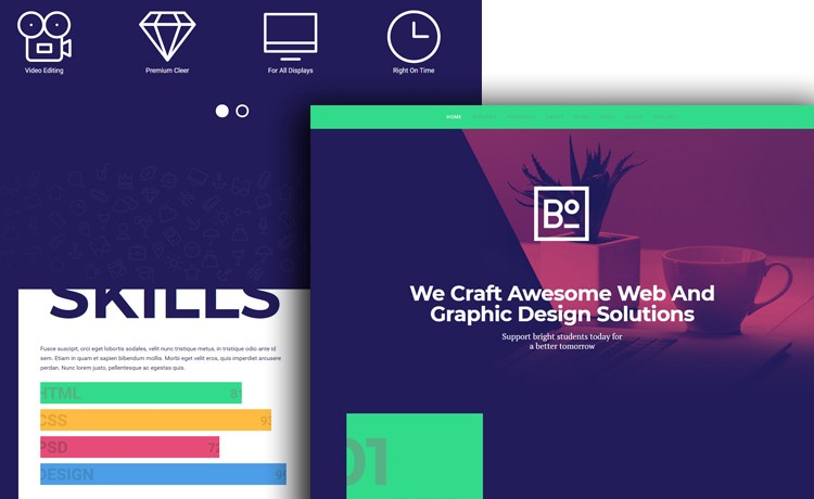 Cool Free Responsive Html5 Css3 Website Templates 2018 Edition By Bradley Nice Level Up Medium