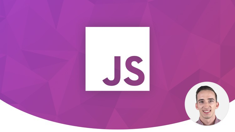 course banner image with the instructors image and the logo of Javascript
