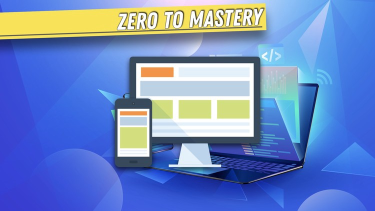 """Course banner with a text """"Zero To Mastery"""""""