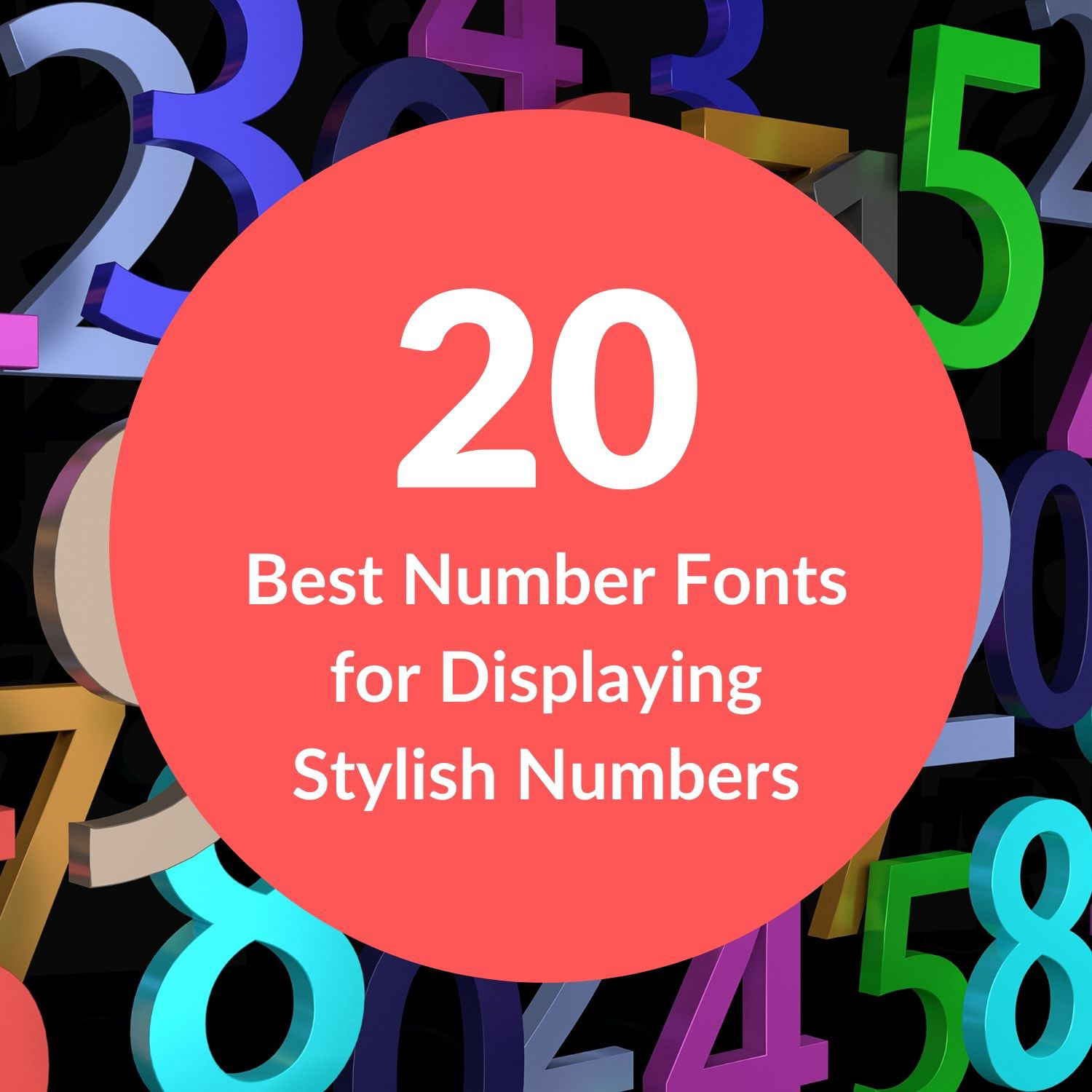 20 Best Number Fonts For Displaying Stylish Numbers By Akbar Shah Nyc Design Medium