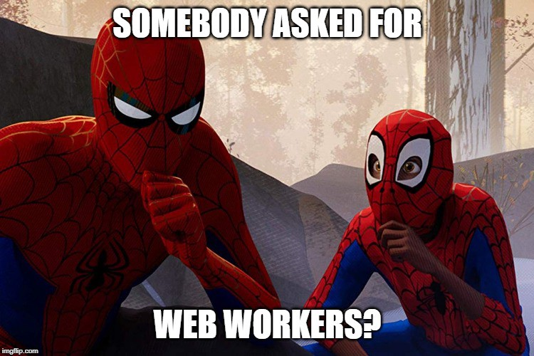 Web workers in Electron