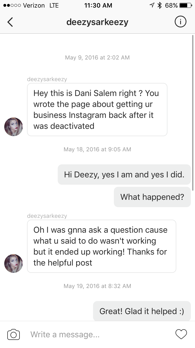 How I Reactivated My Disabled Instagram Account in 3 Days
