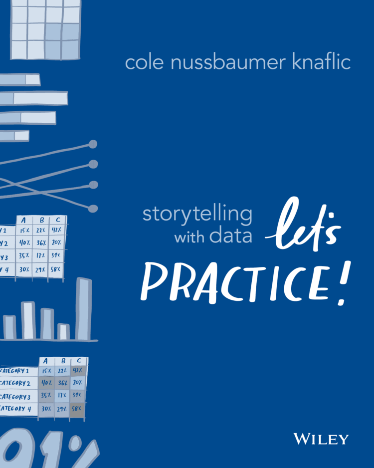 Cover page of Storytelling with Data: Let's Practice! by Cole Nussbaumer Knaflic