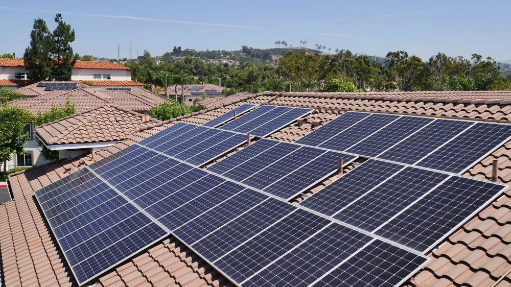 Solar Panel installation on clay roof by Sunline Energy