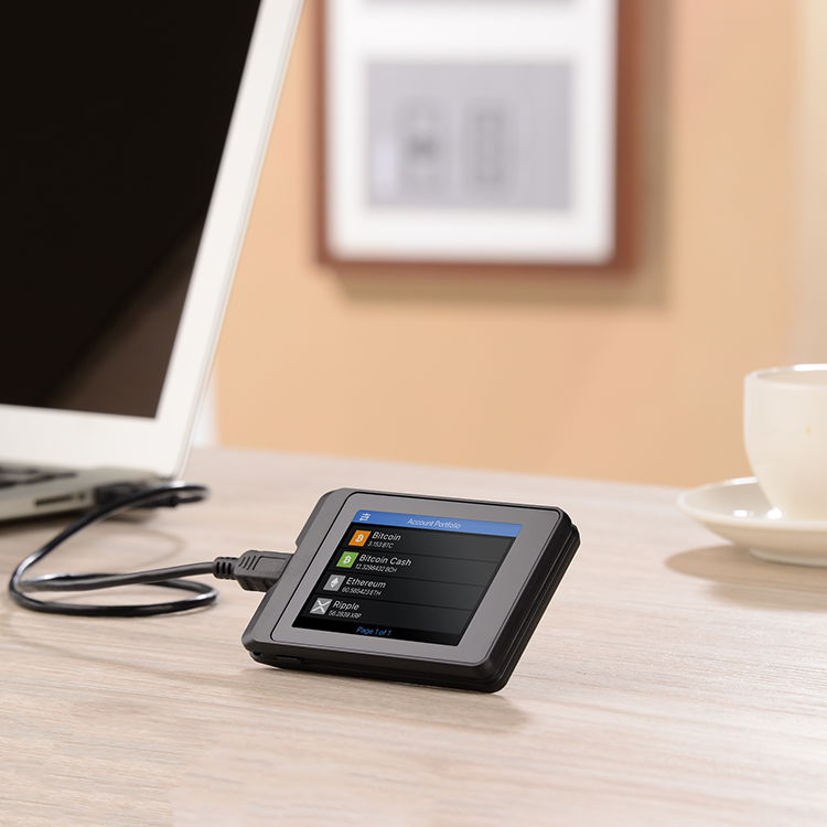 "SecuX W10 Crypto Hardware Wallet — Large 2.8"" Color Touchscreen. A Crypto Hardware Wallet for Home Use."