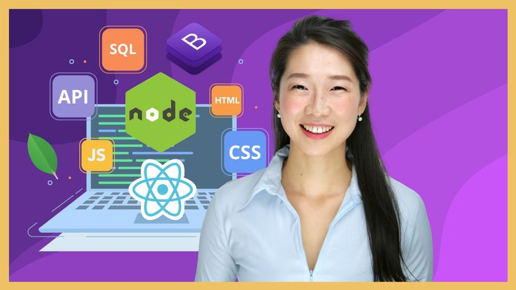Course banner. The instructor of this course Dr. Angela Yu smiling