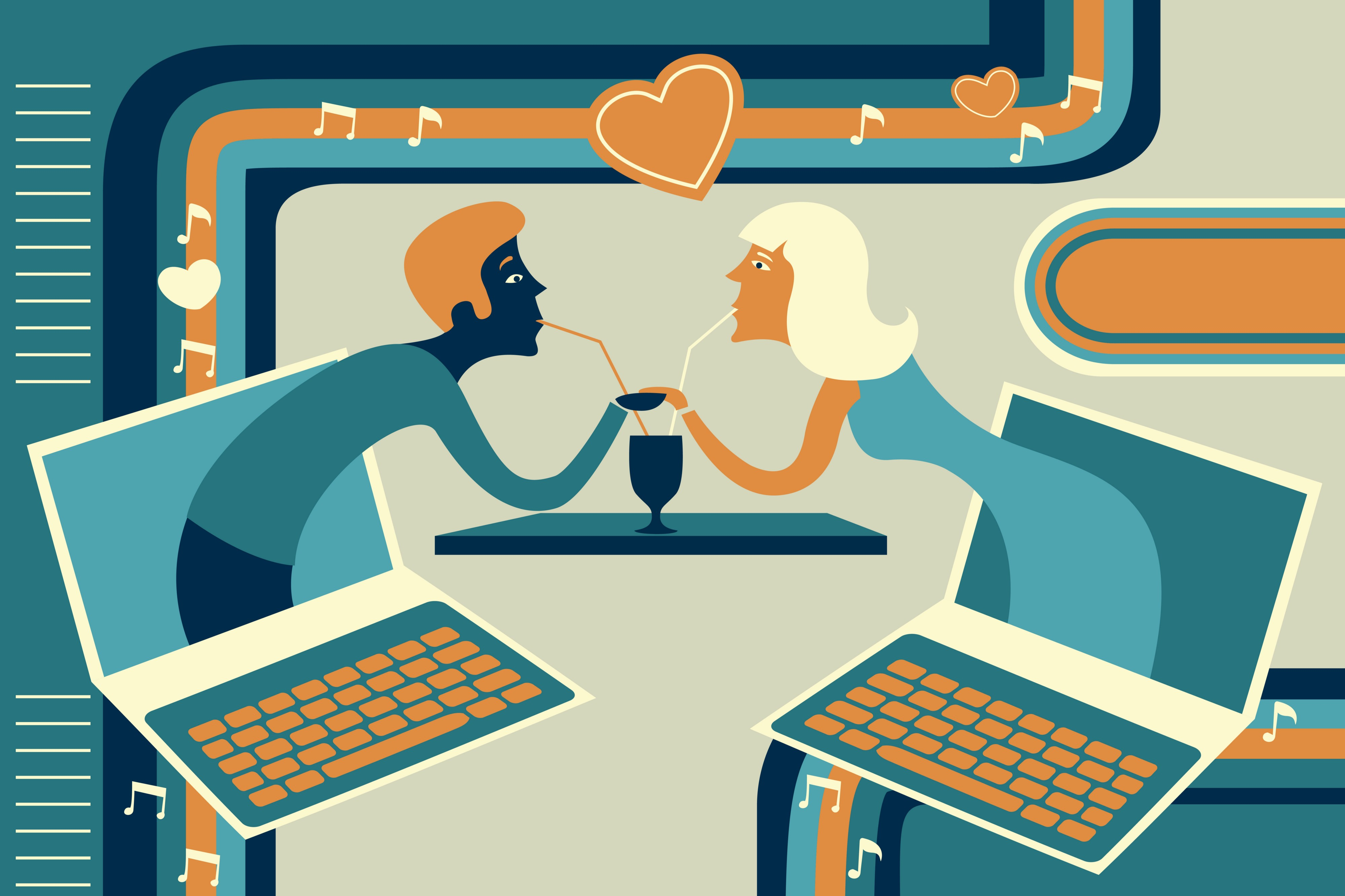 compare and contrast online dating vs traditional dating