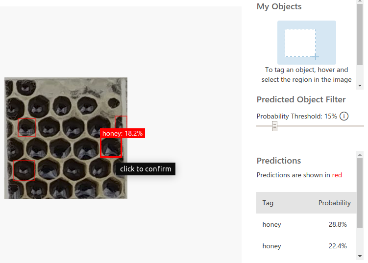 Locating and Identifying Honeycomb Cells using Object