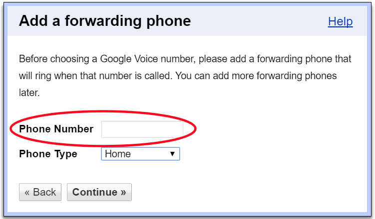 add phone number to google account