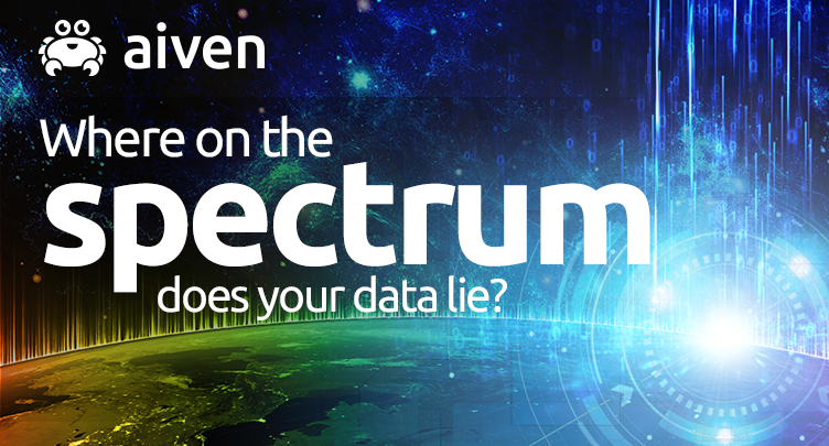 "Representation of the data continuum, entitled, ""Where on the spectrum does your data lie?"""
