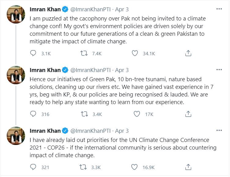 PM Imran Khan shows ire and solutions for climate change in Pakistan his government has implemented