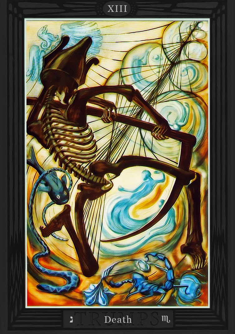 Card 13 from the Thoth Tarot deck—Death