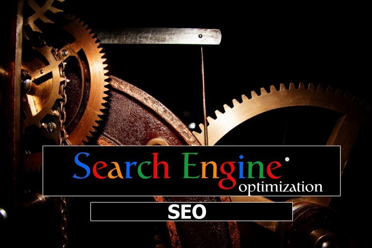 """Search Engine Optimization"" with clock gears as a background"