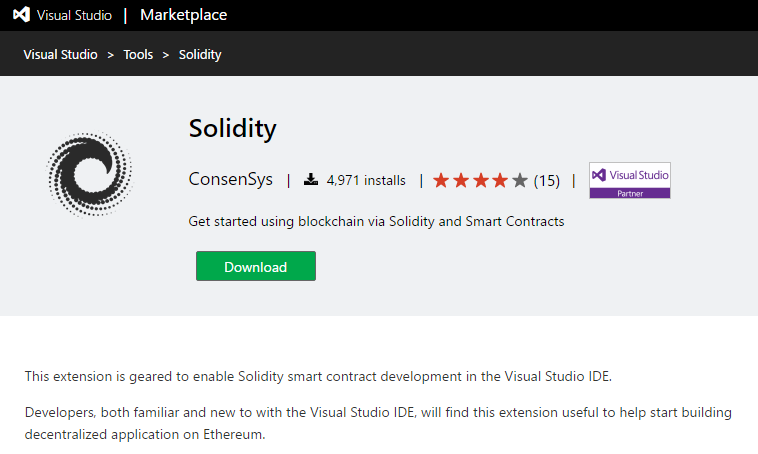 Build and deploy #Ethereum smart contracts using Visual Studio
