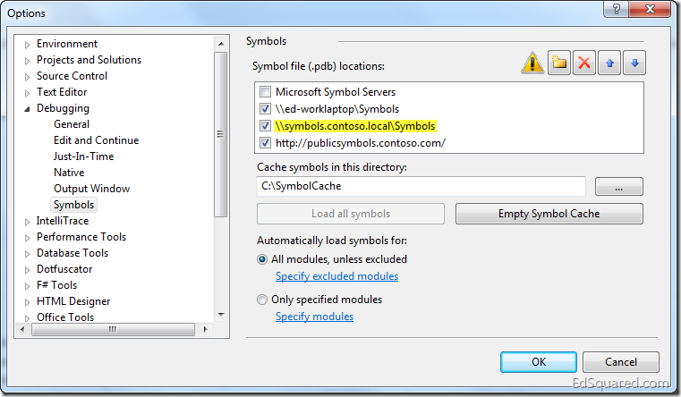 Source Server and Symbol Server Support in TFS 2010
