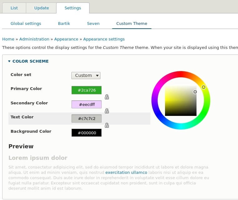 Integrating The Color Module Into Your Drupal 8 Theme
