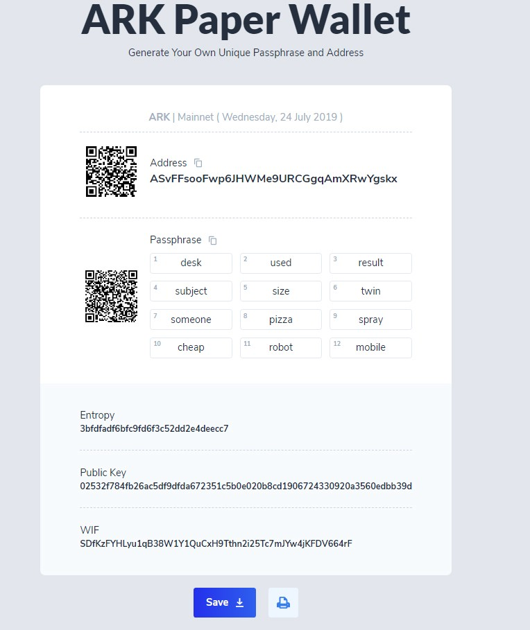 Clean and intuitive wallet with all of the necessary information