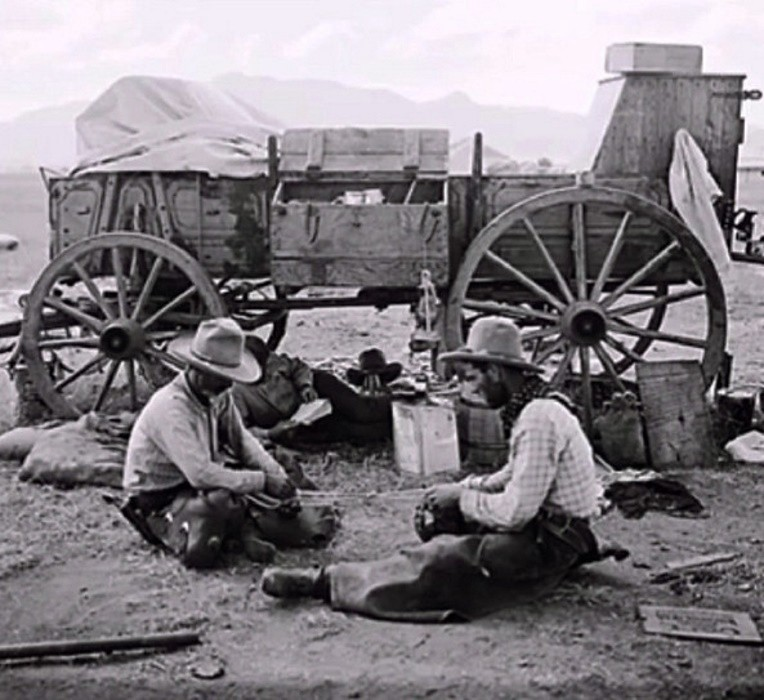 Bath-challenged cowboys on the trail 1888