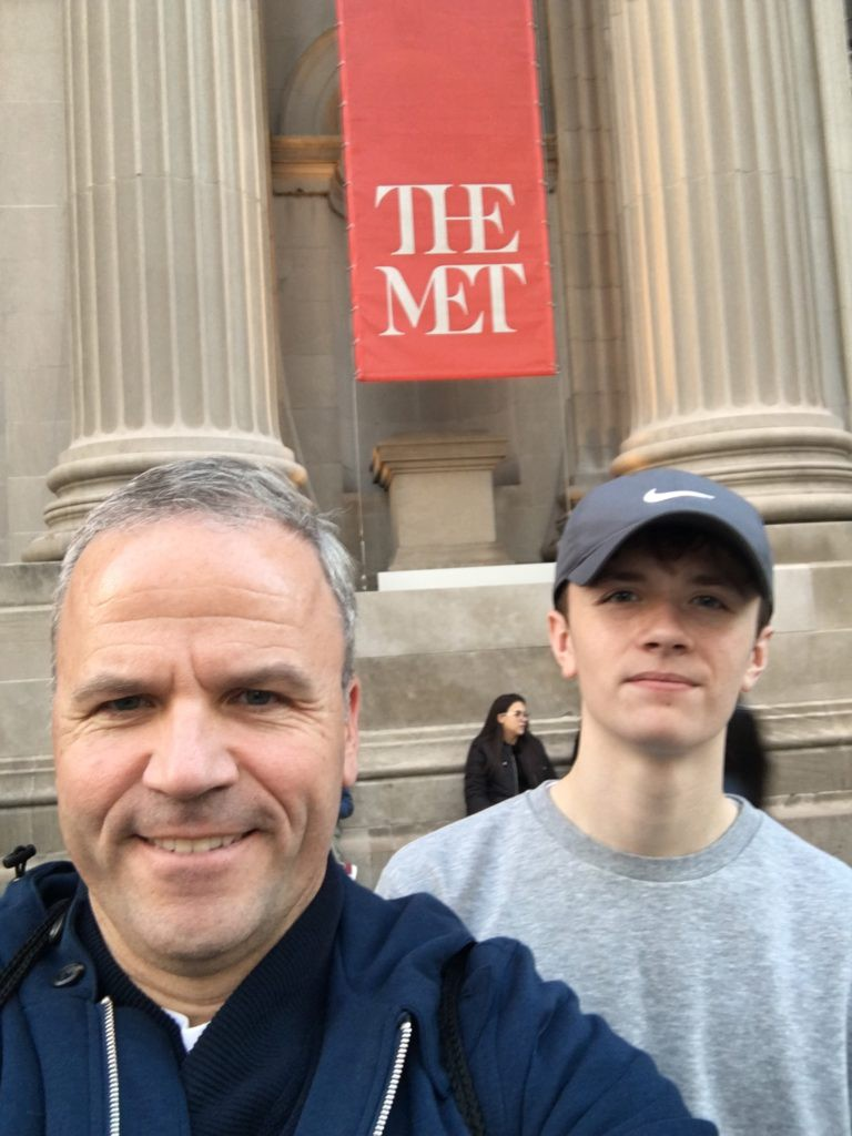 Riley and I visited the Met in NYC - one of the largest art museums in the world.