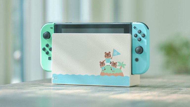 The Animal Crossing: New Horizons Nintendo Switch console