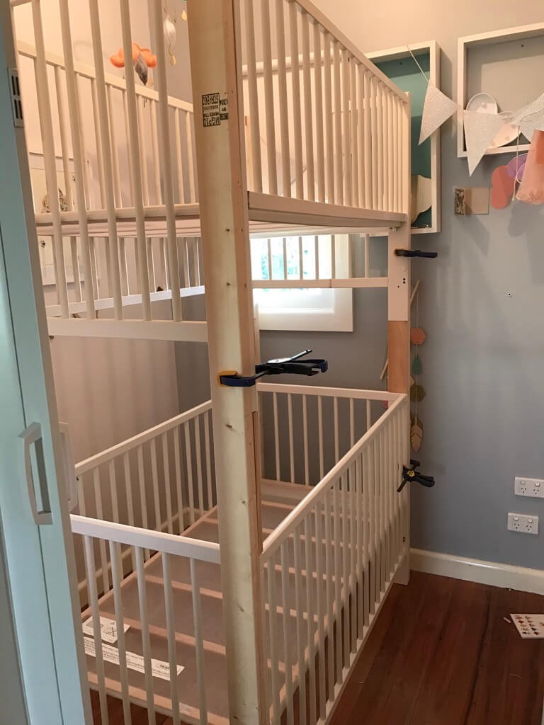 Picture of: Crib Bunk Bed Hacked From Ikea Gulliver Cots By Beverly Sutton Medium
