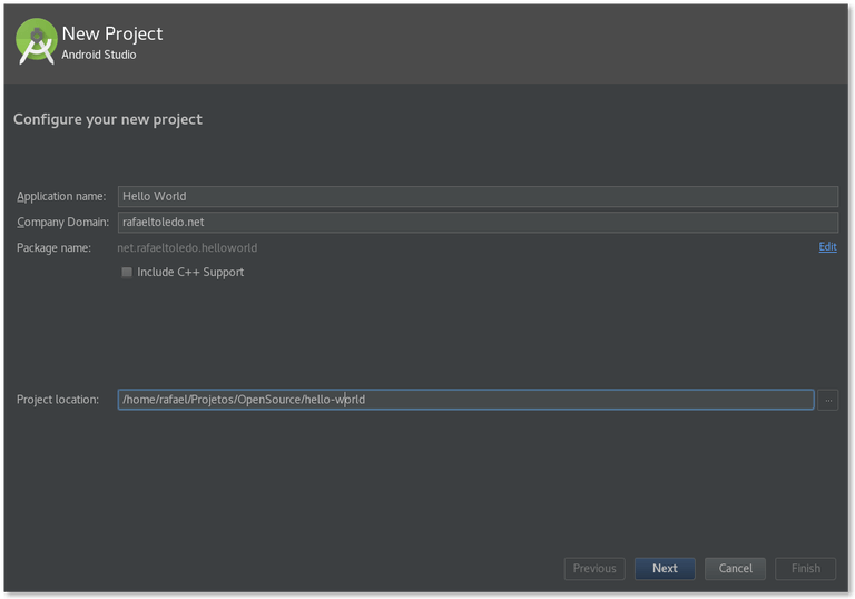 Creating a new project and an emulator on Android Studio