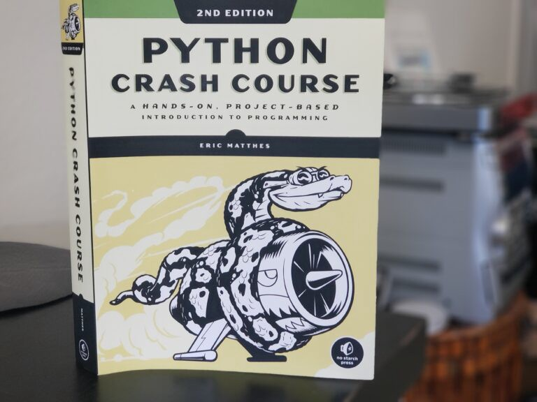 Python Crash Course — book for those who want to learn python programming from beginner to professional