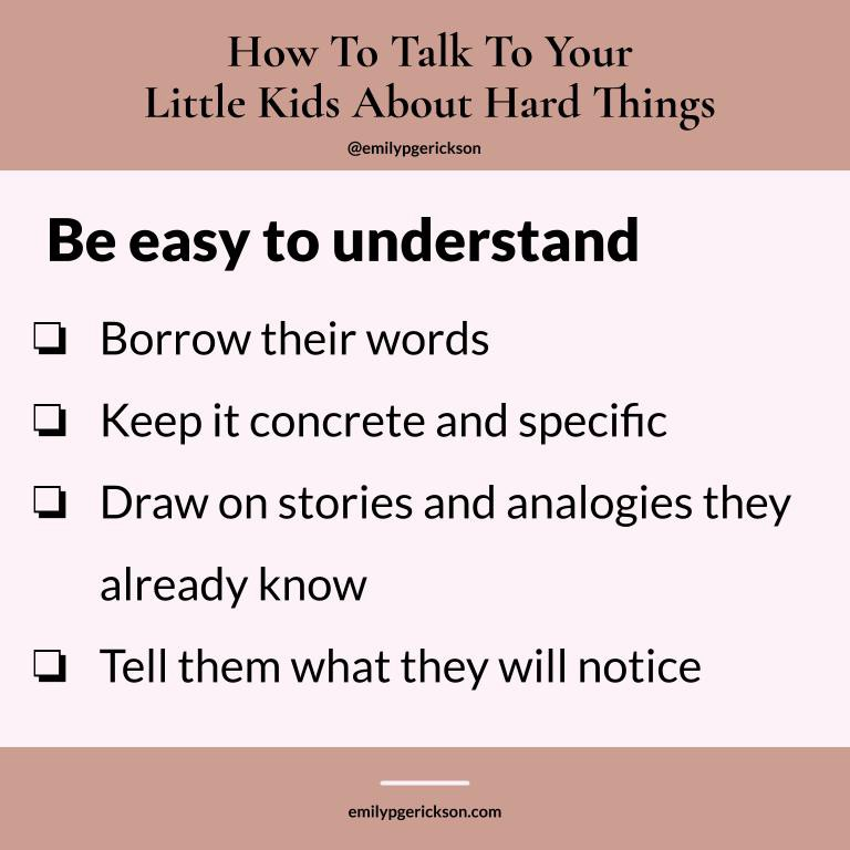 How to be easy to understand by Emily P.G. Erickson