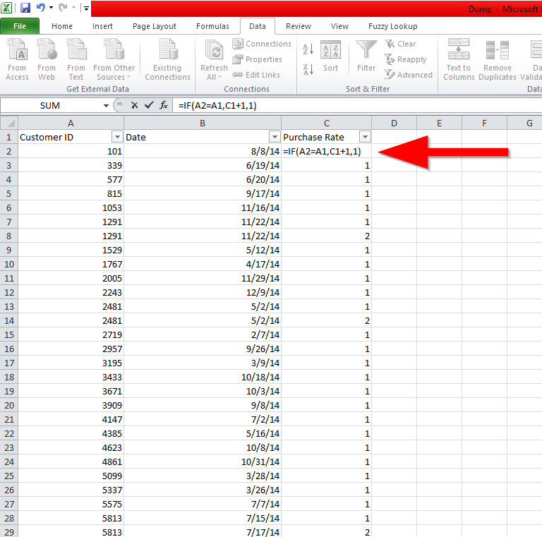 How to do your Cohorts analysis in Spreadsheet & Excel (A
