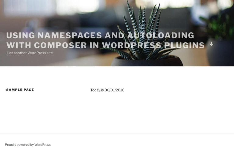 Using namespaces and autoloading with Composer in