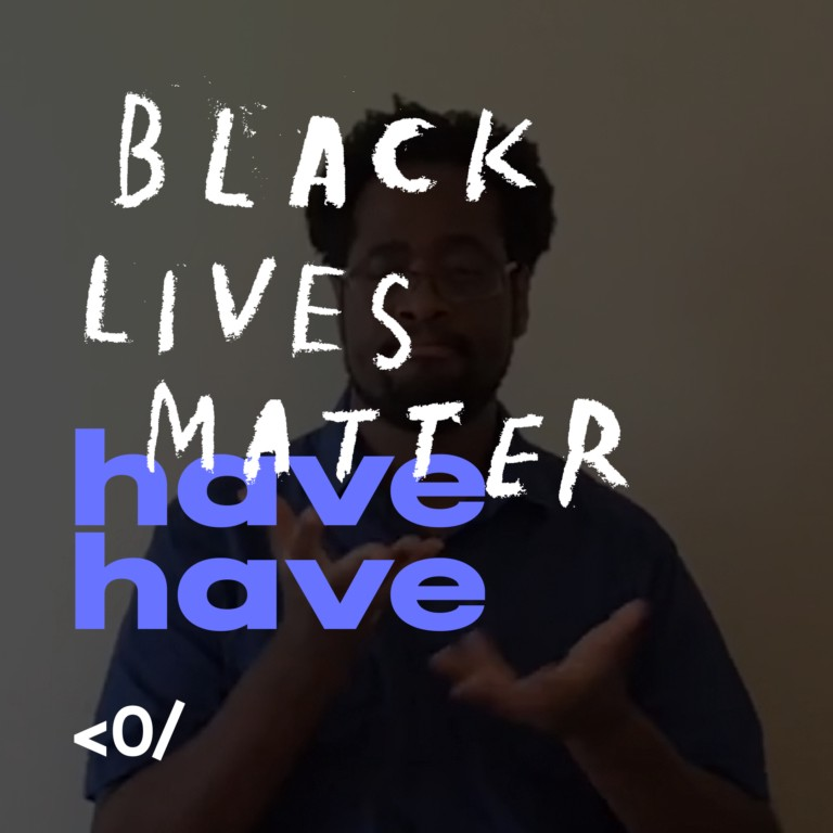 """The intersection of the signed phrase """"havehave"""" and Black Lives Matter signifies the importance of work by Black and non-white Deaf creatives."""