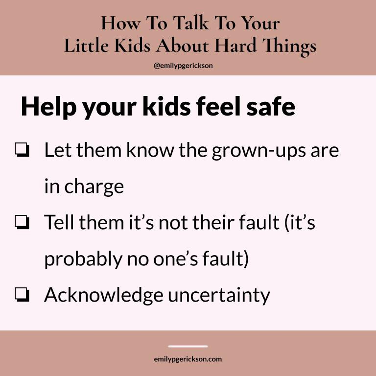 How to help your kids feel safe by Emily P.G. Erickson