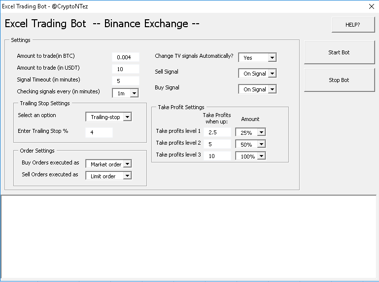 Excel Trading bot for Binance - CryptoNTez - Medium