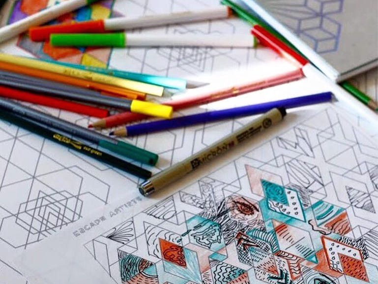 Coloring books aren't only made for kids.