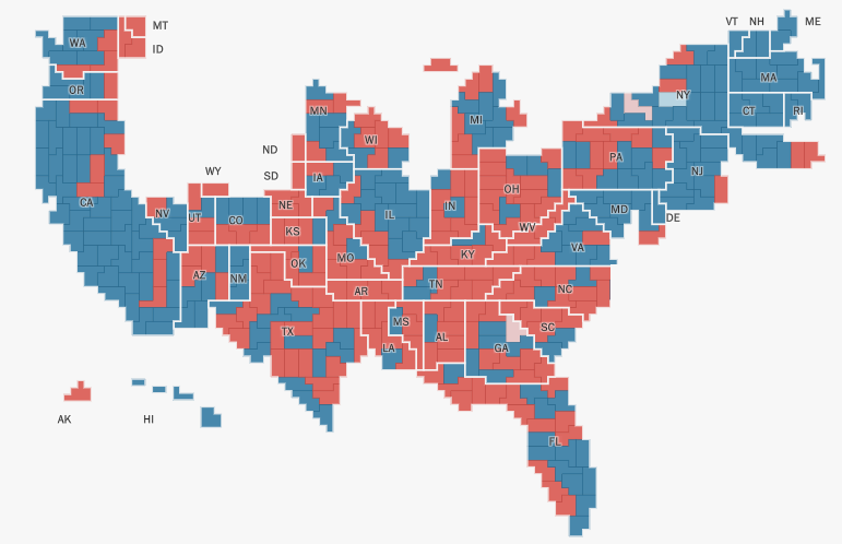 Washington Post's Electoral Maps: How we built it - Points ... on us map zoom in, united states zoomed in, europe map zoomed in, world map zoomed in,
