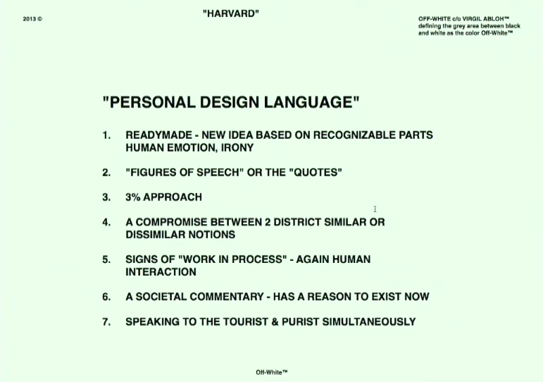 Virgil Abloh S Lessons For Creatives By Ab 36 Chapters