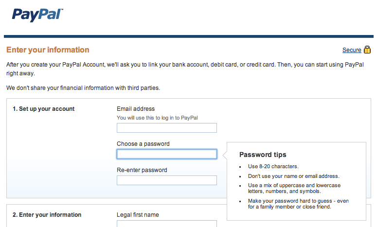 Why does PayPal limit password length to 20 characters?
