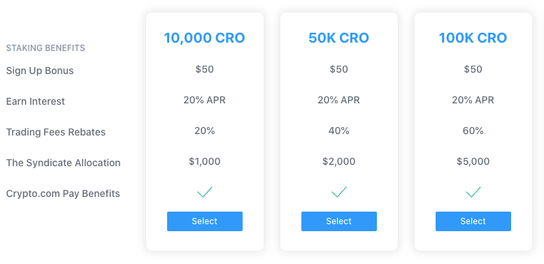 exchange staking advantages for crypto.com